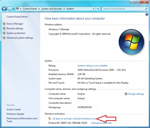 windows 7 loader activator v2.1.9  64 bit