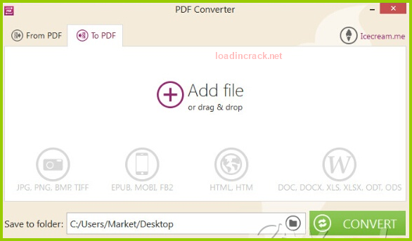 Icecream PDF Converter Pro Serial Key v1.50 Full Patch FREE