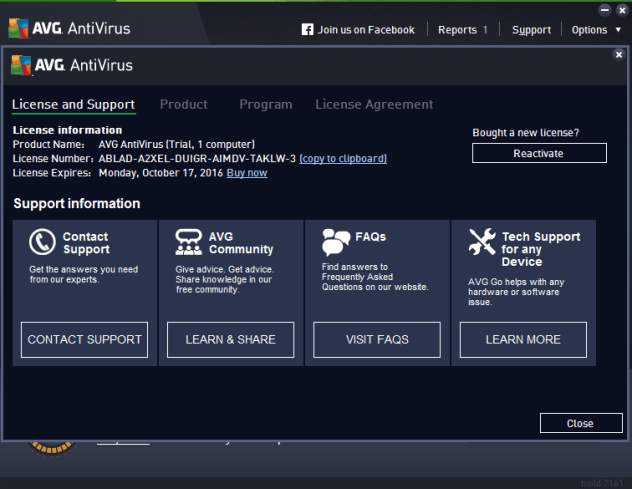 Avg antivirus 8 pro registration key