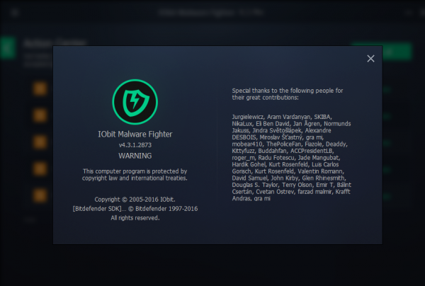 IObit Malware Fighter 4.3 PRO License Key 2016 Working 100%