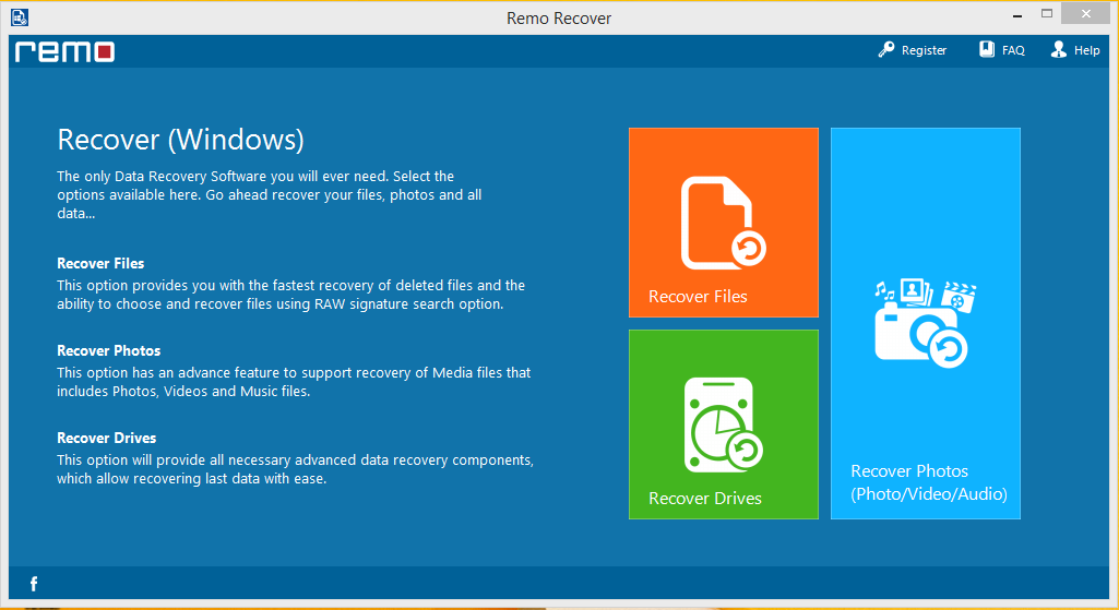 Remo Recover PRO 4.0.0.64 2017 License Key [ Crack ] Free Download