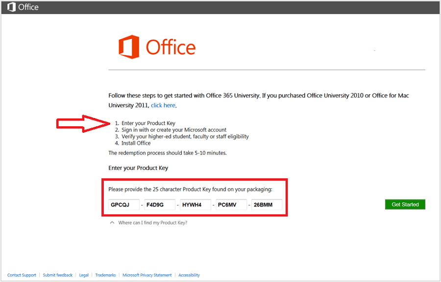 ms office  for windows 8.1 with product key
