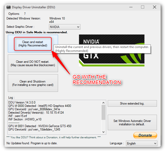 Nvidia Driver Rollback Windows 10