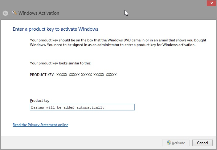 download windows 8 with a product key