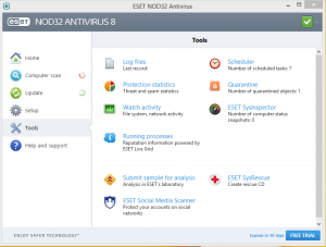 username and password for nod32 antivirus 8